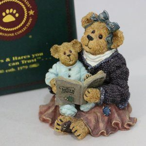 Boyds Bear Resin Momma Mcbearsley with Jordan book